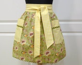 Womens Half Apron Modern Chic Cute Kitchen Waist Apron