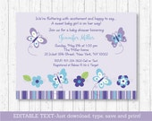 Butterfly Baby Shower Inv...