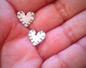 Heart Stud Earrings Sterling Silver