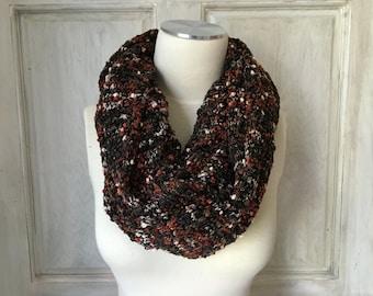 Knit Infinity Scarf Copper Grey