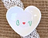 Heart Shaped Ring Dish,Ring Dish Monogram,Ring Dish Engagement, Ring Dish Wedding,Ring Dish Personalized