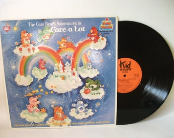 Vintage Care Bear Adventure in Care-A-Lot Record Album for Children
