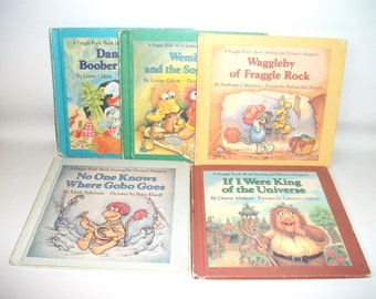 5 Vintage Fraggle Rock Books Jim Hensons Muppets 1984