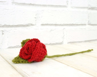 Red Rose, Crochet Eternal Rose, Pink Rose, Red Rose, Gift For Her,  Proposal Idea, Flower Bouquet, Girlfriend Gift, Valentines Flower Gift