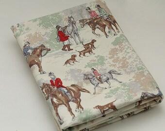 4111 - Cath Kidston Riding (Light Beige) Cotton Canvas Fabric - 57 Inch (Width) x 1/2 Yard (Length)