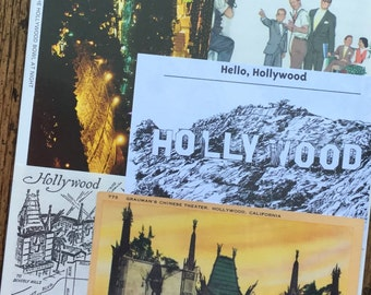 Let's Travel to Hollywood California Vintage Collage, Planner and Scrapbook Kit Number 2181