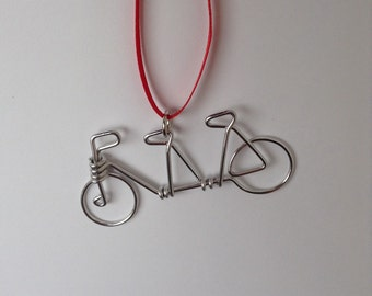 Tandem Bicycle Charm