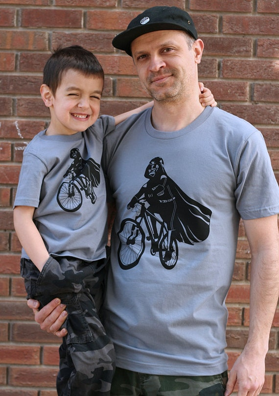 Darth Vader is Riding it Father Son Matching Shirts, dad and son t shirt set, Father's Day, gift ideas for dad, bike shirt