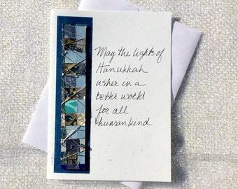 Handmade Hanukkah Cards,Happy Hanukkah,Wishing Happy Hanukkah,Greeting Cards Handmade,Hanukkah Christmas Cards,Chanukah or Hanukkah