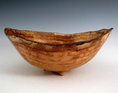 Maple Burl Wood Turned Bowl - Natural Edge Wood Bowl - Fruit Bowl - Men or Women - Home Decor - Kitchen and Gourmet - Wedding Gift