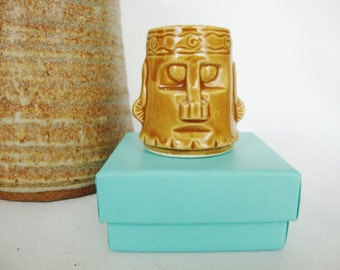 vintage tiki ceramic toothpick holder japan