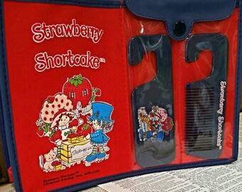 Vintage Strawberry Shortcake red children tote bag