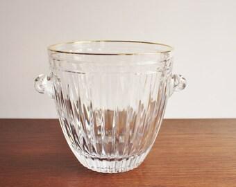 Vintage crystal ice bucket, Waterford