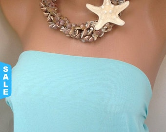 BEACH Weddings Jewelry Sale Beach Weddings ,Brides Bridesmaids Gift Necklace with Sea Shell and Star Fish