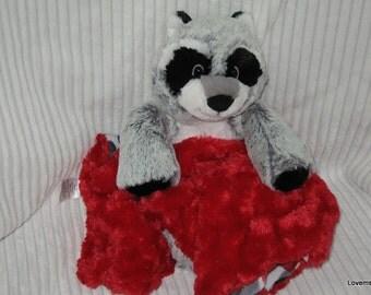 Security Blanket, baby blanket, luvi, lovie - raccoon lovems