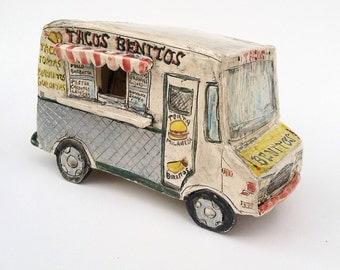Taco Truck Ceramic miniature sculpture