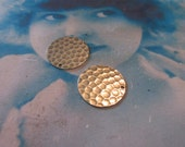 Sterling Silver Ox Plated Brass Hammered Earring Supplies Circles 2103SOX x2