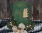 St. Patrick's Day Primitive Leprechaun Hat Table Sitter OOAK Centerpiece