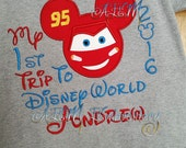 My 1st trip to Disney Embroidered Shirt Lightning McQueen Unisex Shirts