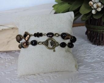 Two times black wrap bracelet