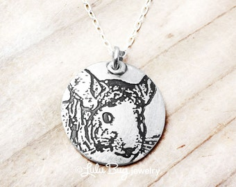 Chinchilla necklace, silver chinchilla jewelry, chinchilla pendant, remembrance jewelry