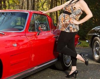 Rockin Panther Sleeveless Maternity Top