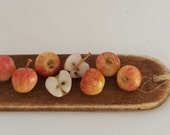 1/12TH scale - rustic board with wild apples.