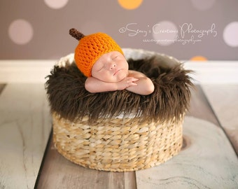 Baby Pumpkin Hat, Infant, Crochet Baby Hat, Baby Halloween Hat, Newborn, Baby Costume, Newborn, Fall Baby Hat, Baby Boy Hat, Baby Girl Hat