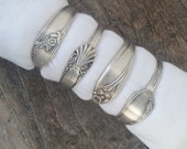 Spoon Napkin Rings Made From Antique Silverware, Set of 4, Lot 3