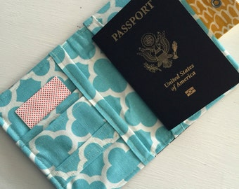 Personalized custom passport cover wallet with monogram