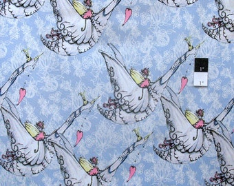 Tina Givens PWTG152 Riddles & Rhymes Sing Me A Song Blue Sky Cotton Fabric 1 Yard