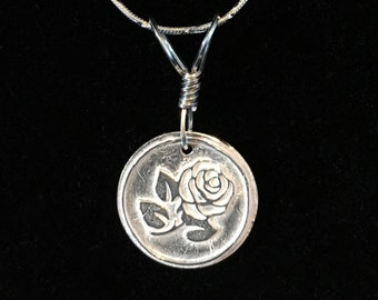 Precious Metal Clay Rose Wax Seal Pendent PMC