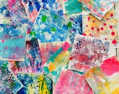 Original Gelli Art Prints - Monoprint Ideal for Collage, Art Journalling, Mixed Media and More Set of 10 Sheets