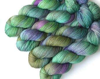 Alpaca Silk and Cashmere Handdyed Yarn, 435 yards - Soft Monet