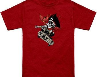 kid's All Hands On Desk Skatebording  pirate Graphic t shirt
