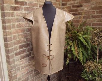 Renaissance vest, Jerkin  Game of Thrones, Reigh, faux snake skin  adult size