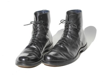 Size: 12 Men's Italian Black Leather Ankle Boot