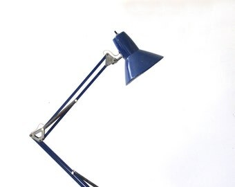 Modern Navy Blue Task Drafting Desk Light with Clamp
