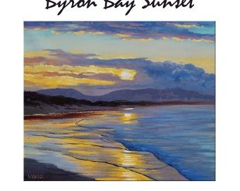 Beach Sunset Painting Original Oil Painting Impressionist Painting Seascape  by  Graham Gercken