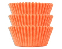 Solid Peach Baking Cups - 50 solid pastel peach paper cupcake liners