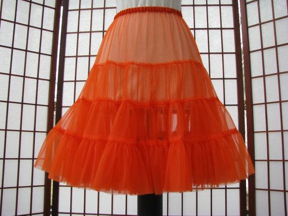 Petticoat Orange Chiffon -- Customer Order