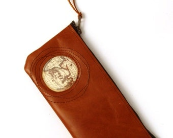 Leather Pencil Case - Porthole