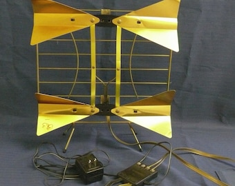 Television UHF antenna for VINTAGE TV - Table Top -Memorabelia - Rabbit Ears