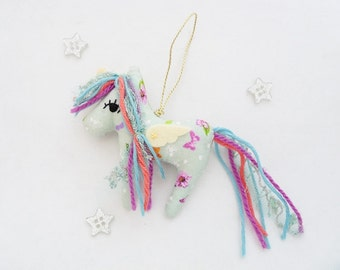 Unicorn Ornament Pastel Christmas Fairytale Plushie
