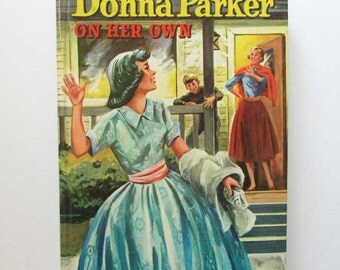 Vintage 1957 Donna Parker on Her Own Juvenile Girl's Mystery Book, Whitman Publishing, Super Clean