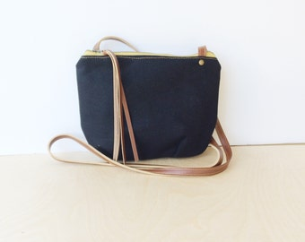 date purse  • black crossbody bag • black canvas - gifts under 50 - simple cross body bag - fall fashion • scout