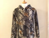Fleece hoodie with bamboo lining