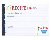 Fruits and Veggies Recipe Cards Set of 15