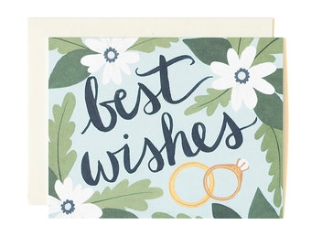 Best Wishes Illustrated Card