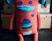 """Sweater Monster """"Hojack"""" - One Of A Kind / Eco Friendly / Reclaimed / Upcycled Stuffed Animal"""